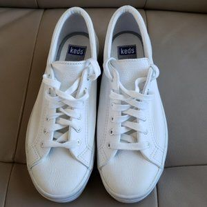 Keds Shoes - White Leather Relaxed Fit Keds - Size 7.5